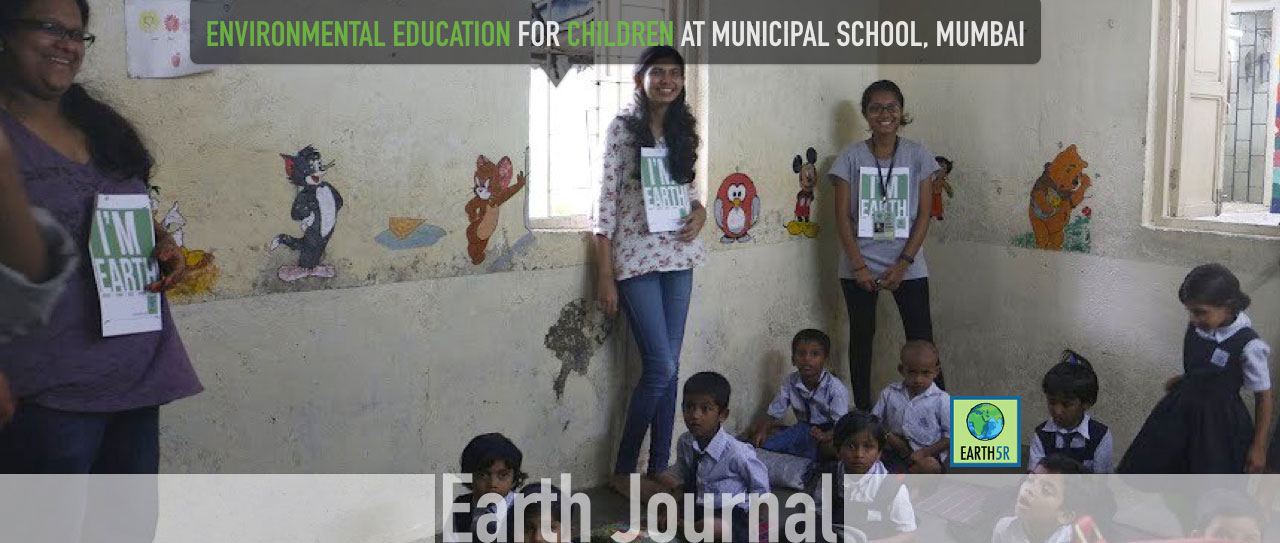 Environmental education for children at Municipal School, Mumbai