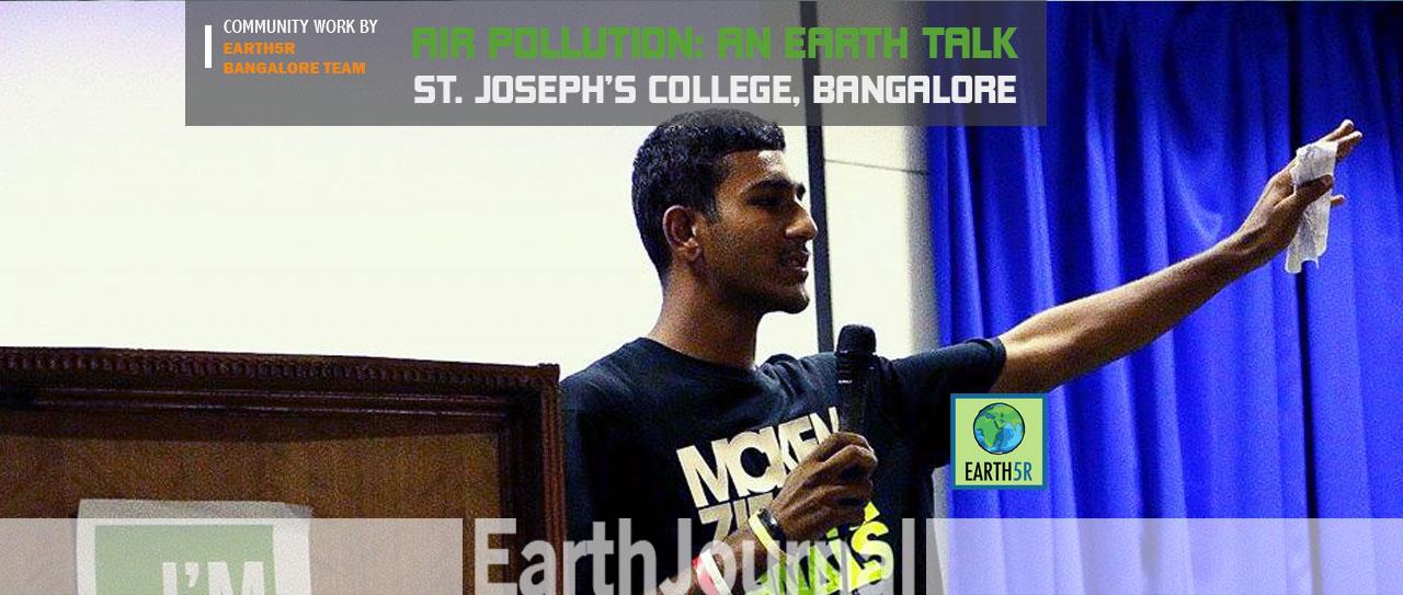 Air Pollution An Earth Talk at Bangalore by Earth5R