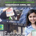Clean-up drive at street and park by Jammu Earth5R