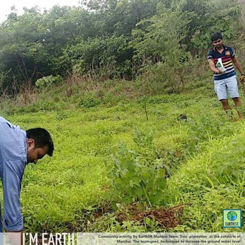 Reusing plastic bottles for plantation and a new water conservation: Hariyali & Earth5R