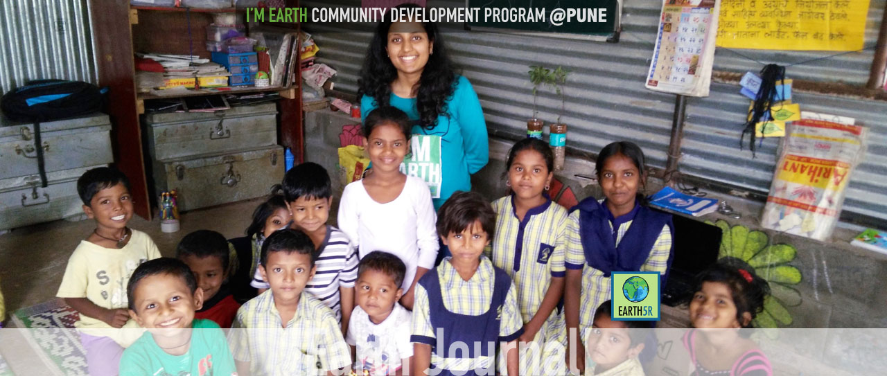 Community development outreach by Earth5R at Pune