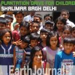 Plantation drive at Shalimar Bagh Delhi by Earth5R