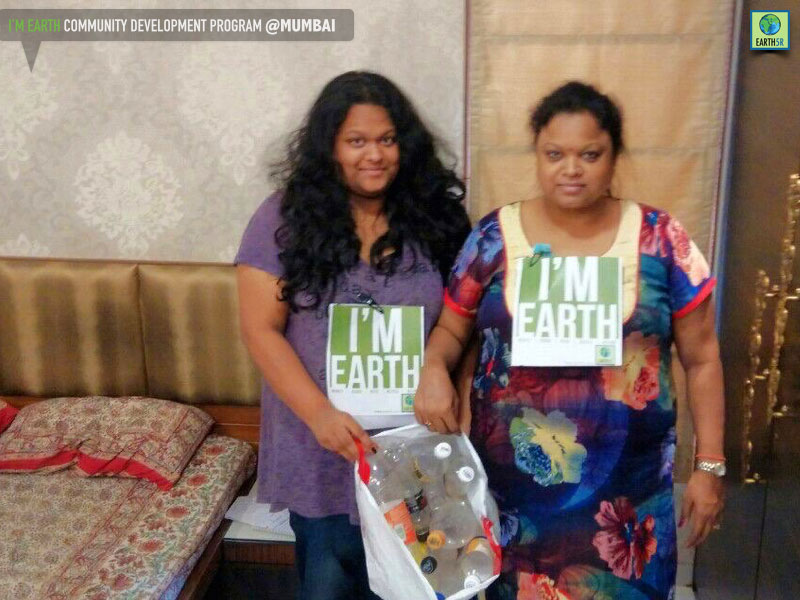 Plastic bottle recycling program at Mumbai by Earth5R