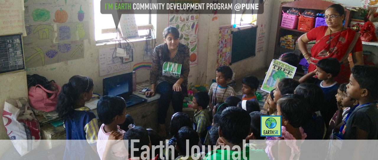 Community development outreach program by Earth5R at Pune