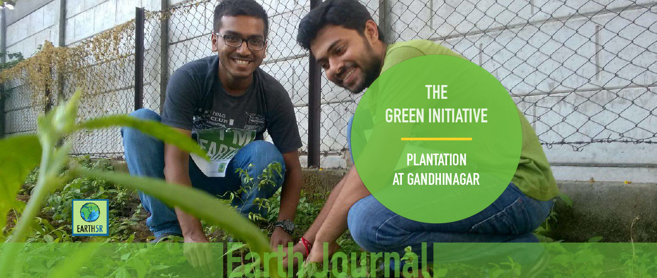 Plantation in Gandhinagar by Earth5R
