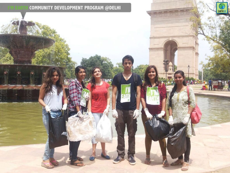 India Gate Cleanup Drive by Earth5R Delhi