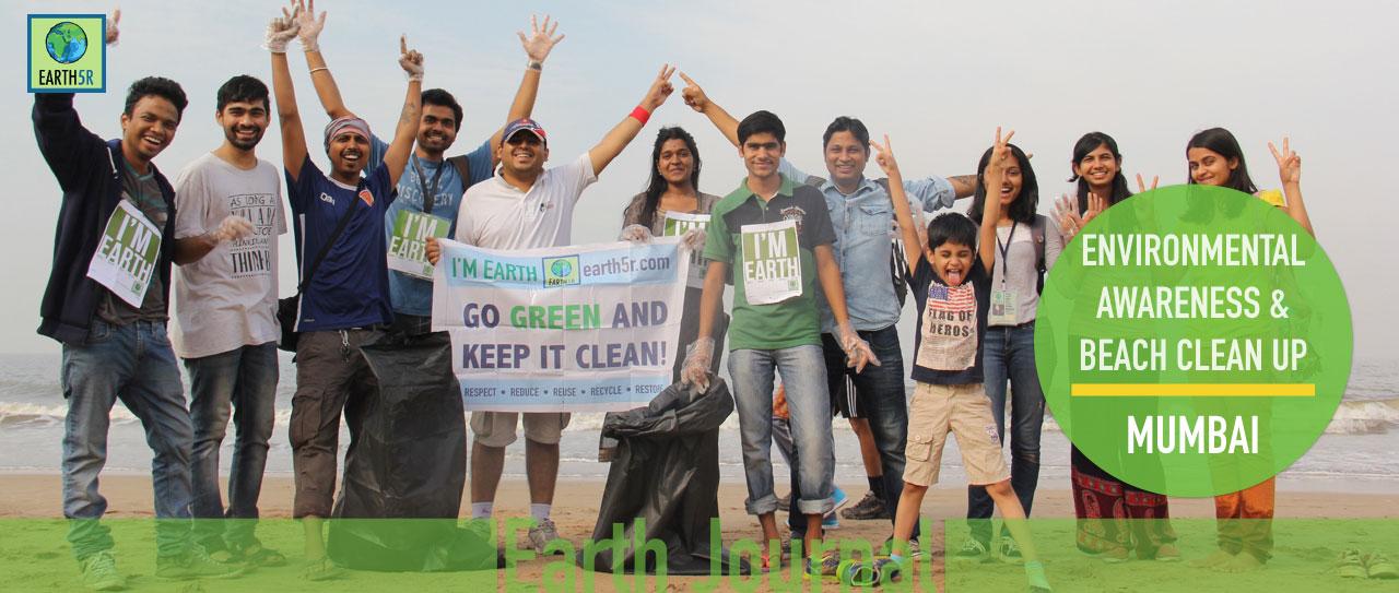 ENVIRONMENTAL AWARENESS AND BEACH CLEAN UP AT JUHU MUMBAI