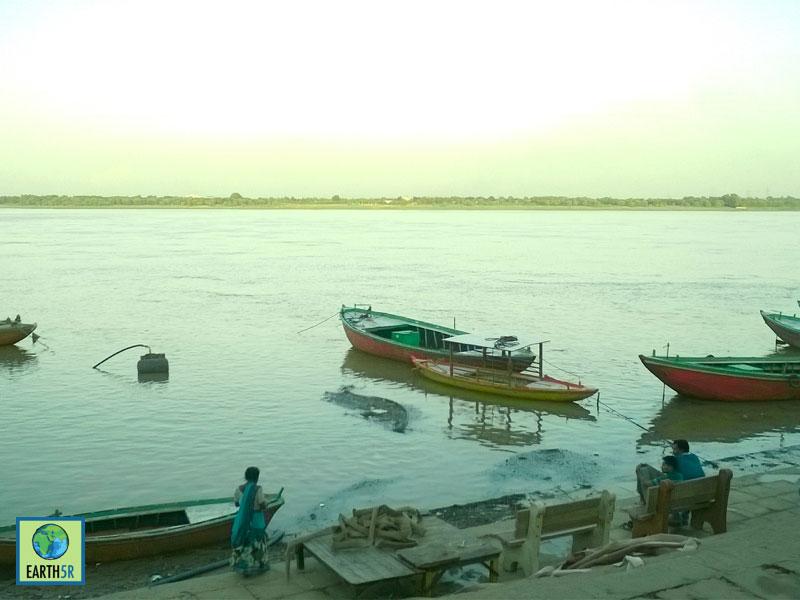 bank ganga meet river sacred wastewater when