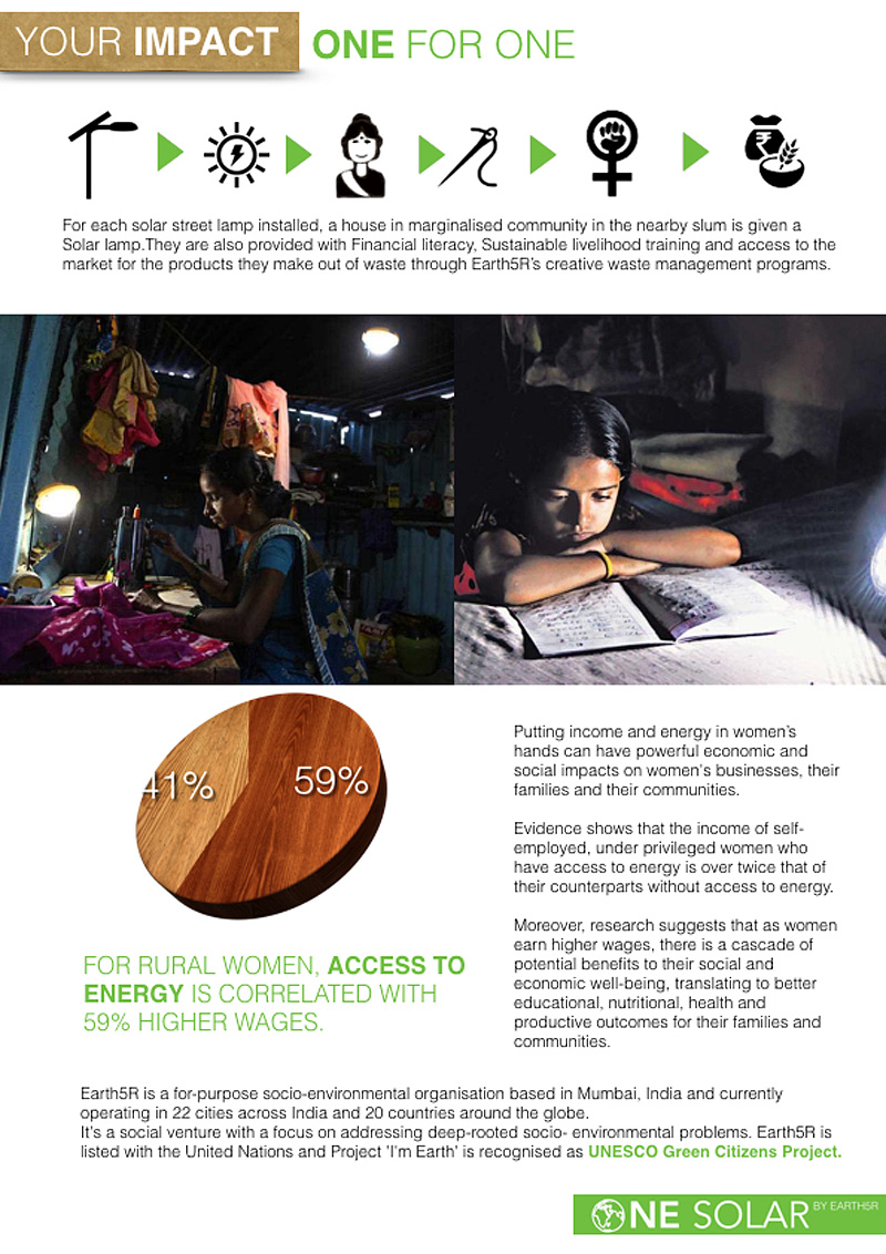 One Solar- Solar Street Light by Earth5R Mumbai