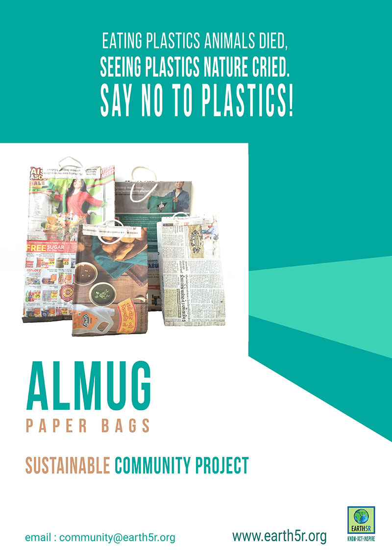 Earth5R Almug Waste Management News Paper Bags