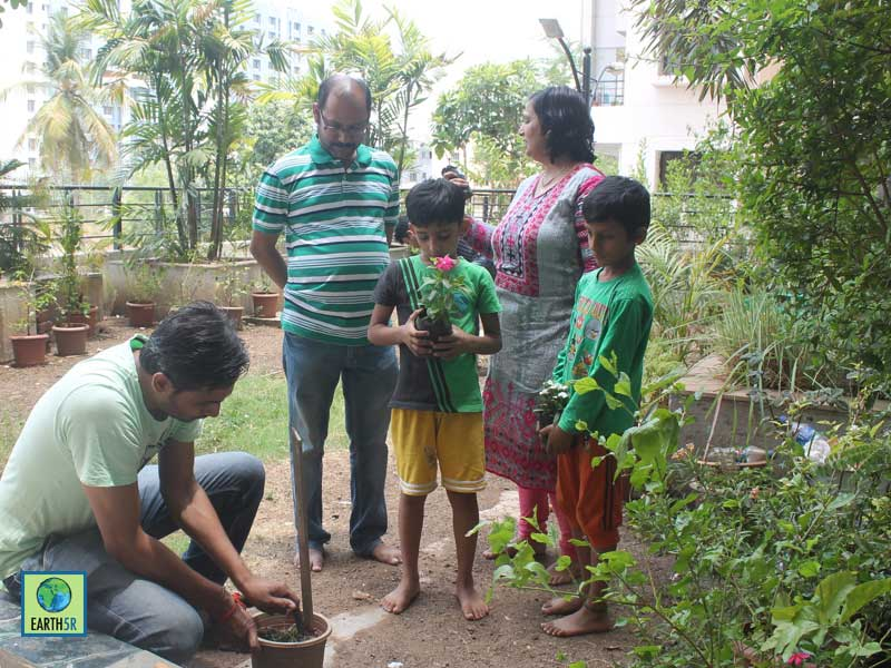 Composting Rainwater Harvesting Organic gardening Pune Earth5R