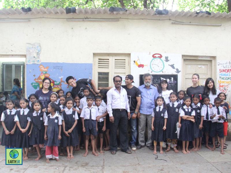 Composting Gardening Plantation Earth5R School Chandivali Raheja Vihar Powai