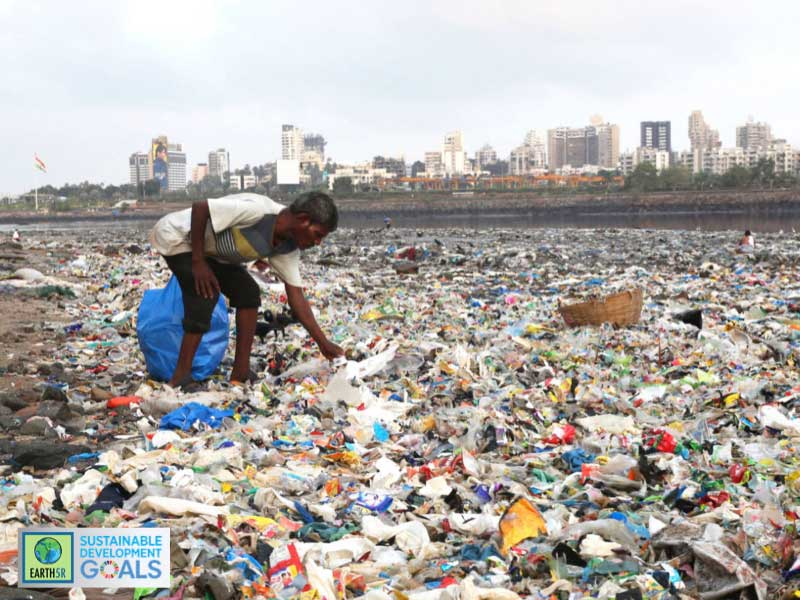 Ragpicker-environment-plastic-glass-garbage-solid waste