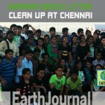 Cleaning up Marina Beach in Chennai