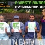e-waste awareness at Divyashree park, Bangalore by Earth5R