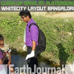 Clean-up drive at Whitecity layout playground by Earth5R Bangalore