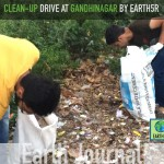 Clean-up drive at Gandhinagar by Earth5R