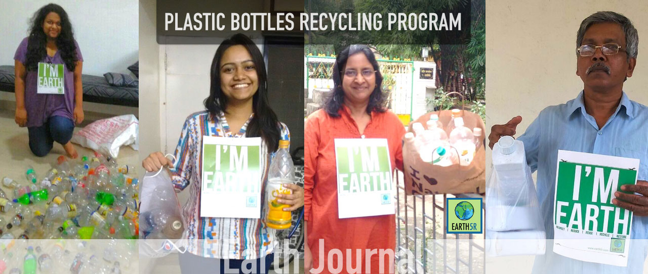 Plastic bottles Recycling by Mumbai Earth5R
