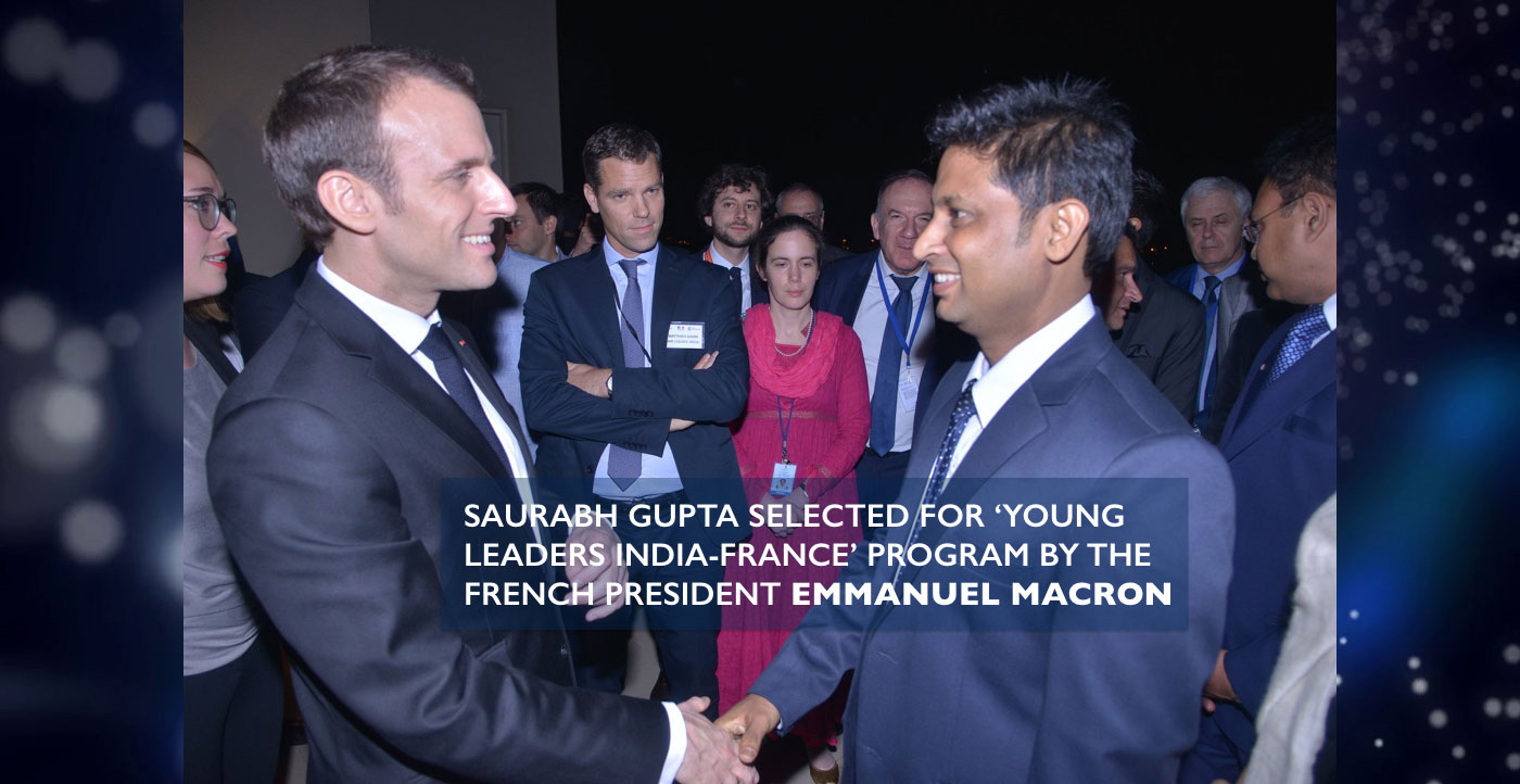 Saurabh-Gupta-Emmanuel-Macron-India-France-Earth5R-Sustainability