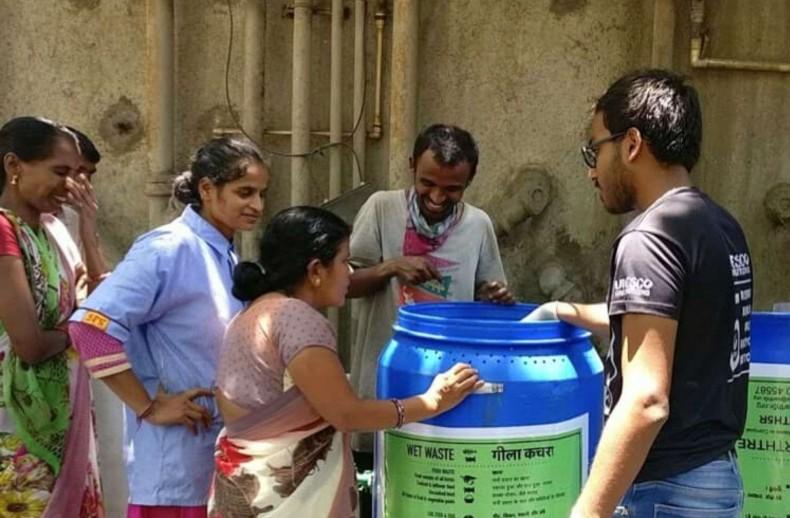 Composting Units Zero Waste Earth5R Mumbai India Environmental NGO CSR