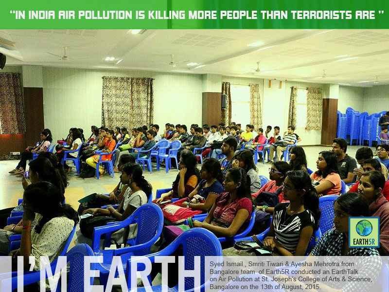 Air Pollution Awareness Bangalore Mumbai India Envrionmental NGO CSR Earth5R