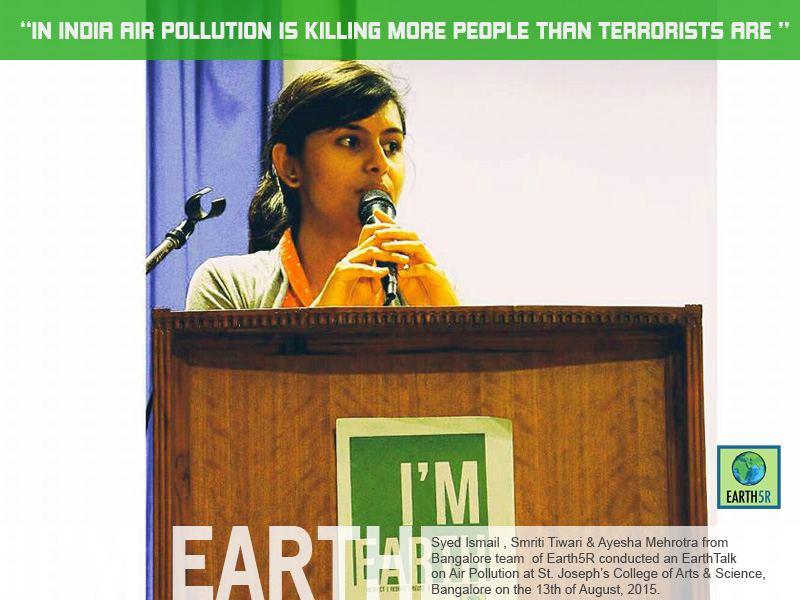 Air Pollution Community Awareness Bangalore Mumbai India Envrionmental NGO CSR Earth5R