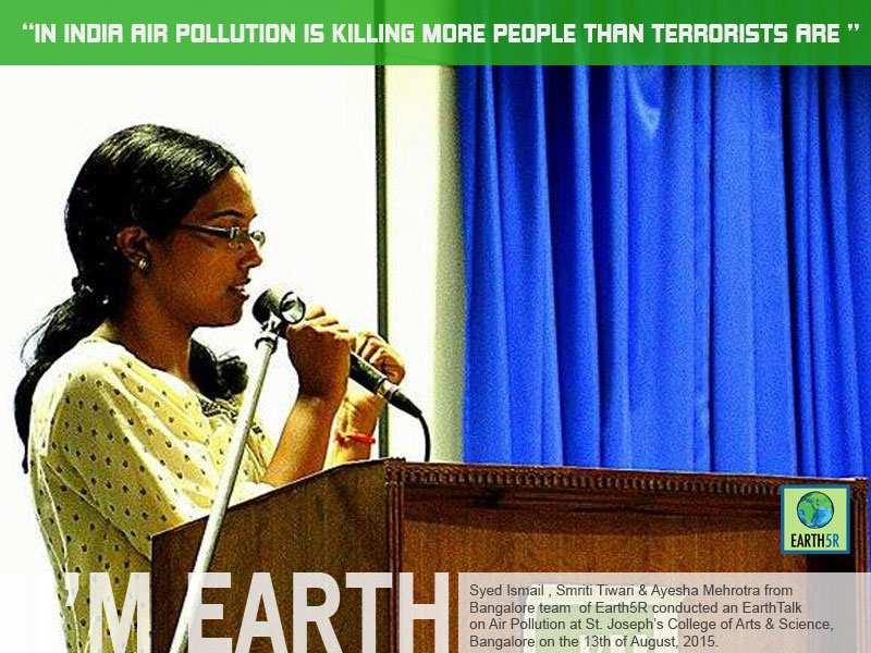 Air Pollution EarthTalk Bangalore Mumbai India Envrionmental NGO Earth5R
