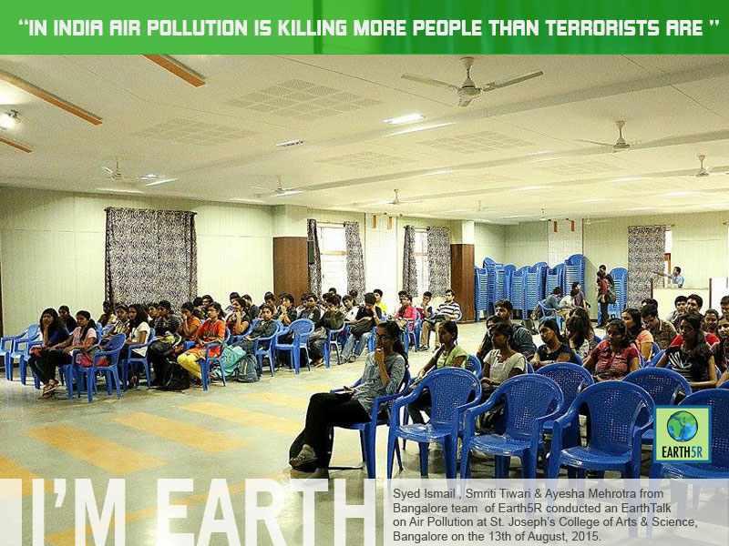 Air Pollution Talk Bangalore Mumbai India Envrionmental NGO CSR Earth5R
