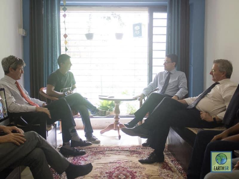 Alexandre Ziegler French Ambassador Meeting Mumbai India Environmental NGO Earth5R