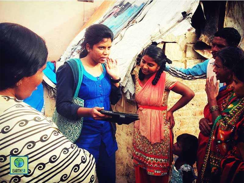 Bangalore Slum Environmental Awareness Earth5R Mumbai India Environmental NGO