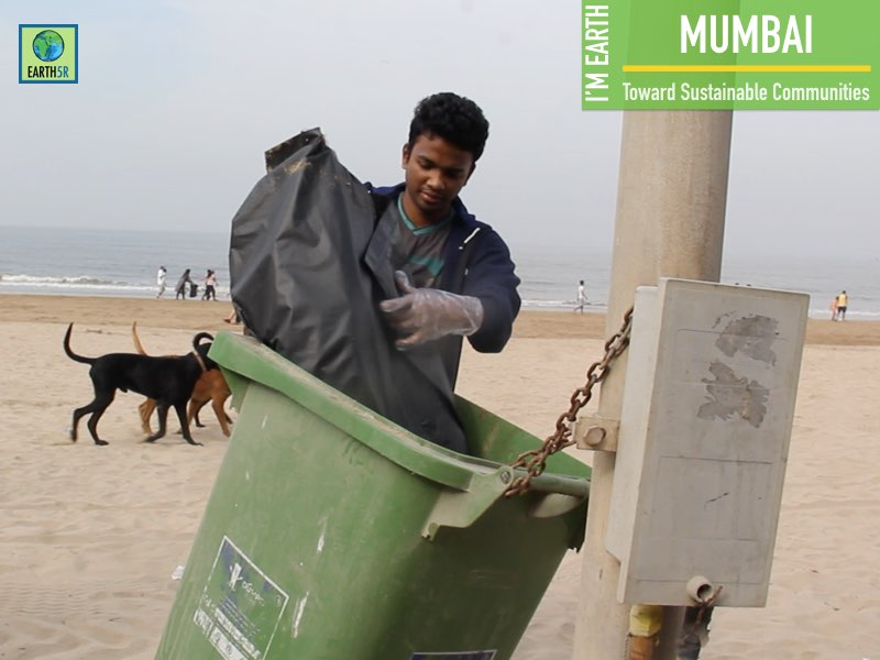 Beach Cleanup Recycling Mumbai India Environmental NGO Earth5R