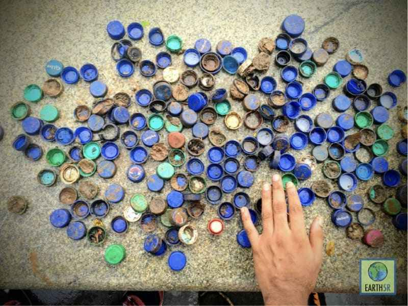 Bottle Caps Benches Recycling Mumbai India Environmental NGO Earth5R