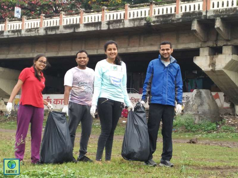 CSR River Cleanup Pune Hexaware Mumbai India Environmental NGO Earth5R