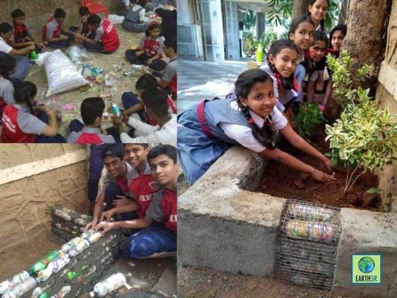 Cardiff Circular Economy Ecobrick project Mumbai India Evironmental NGO Earth5R