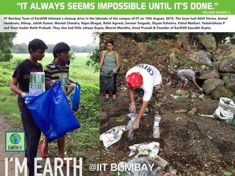 Clean Up Drive Volunteer Mumbai India Environmental NGO Earth5R