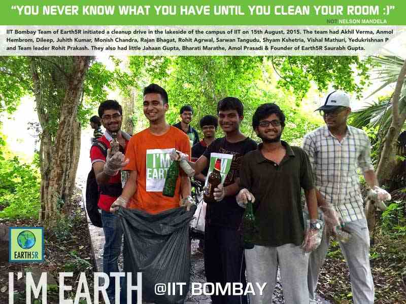 Clean Up Volunteer Mumbai India Environmental NGO Earth5R