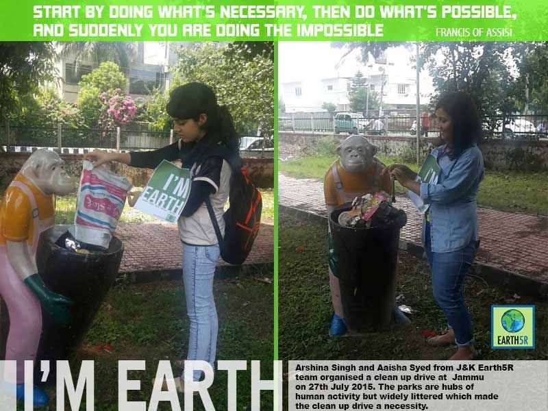 Clean up drive Gandhinagar Volunteers Mumbai India Environmental NGO Earth5R