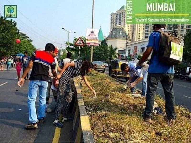 Cleanup Waste Segregation Earth5R Mumbai India Environmental NGO