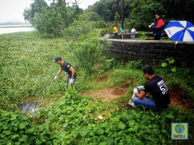 Community Lake Cleanup Mumbai India Environmental NGO Earth5R