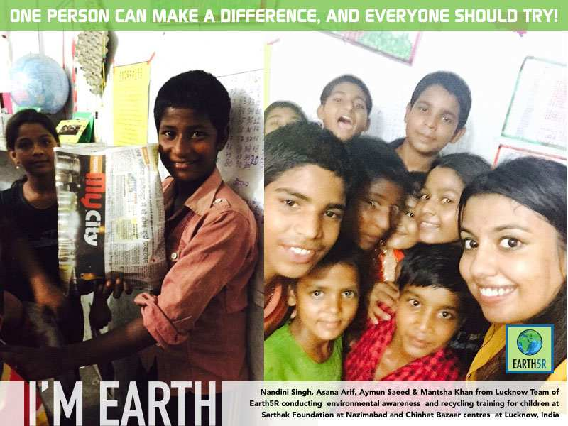 Community Work Recycling Lucknow Mumbai India Environmental NGO Earth5R