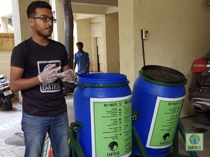 Composting Units Earth5R Mumbai India Environmental NGO