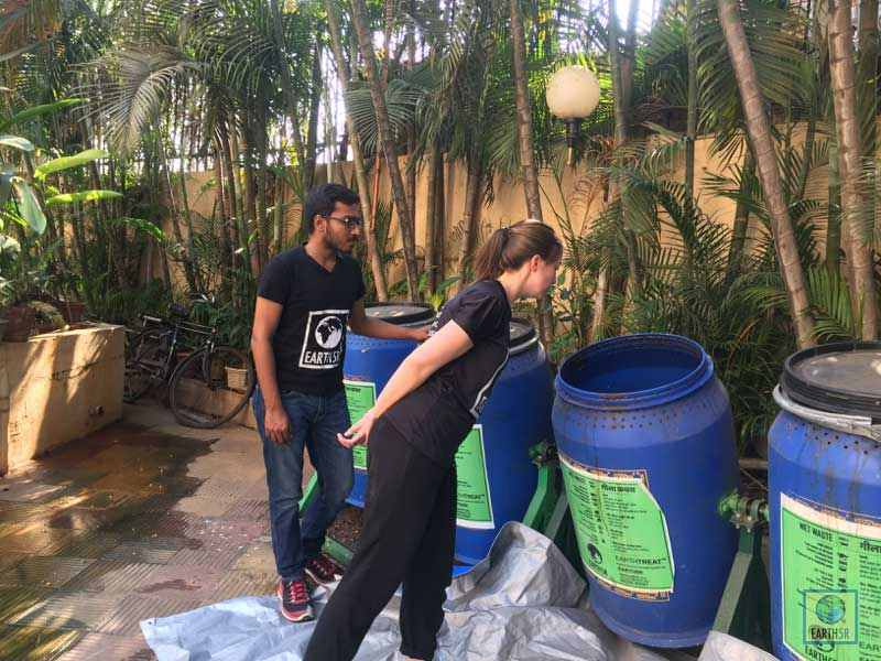 Composting Units Installation Mumbai India Environmental NGO Earth5R
