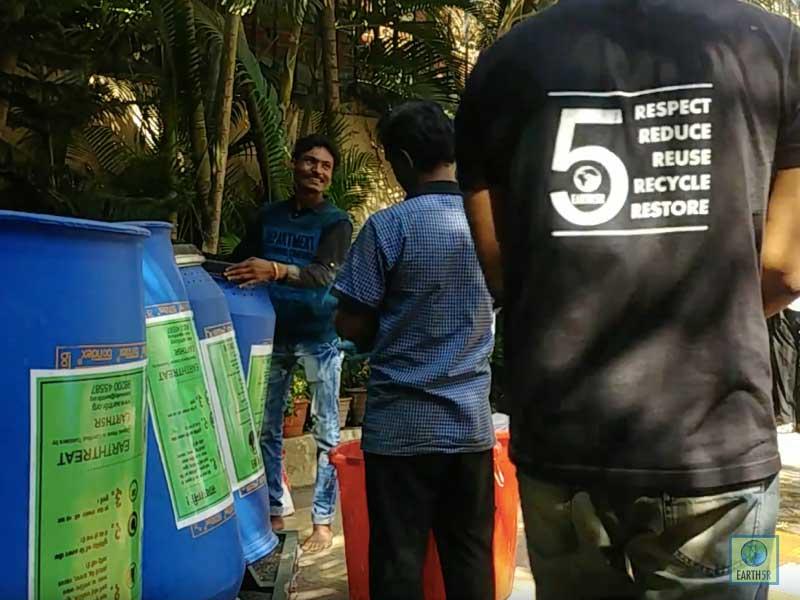 Composting Units Training Mumbai India Environmental NGO Earth5R