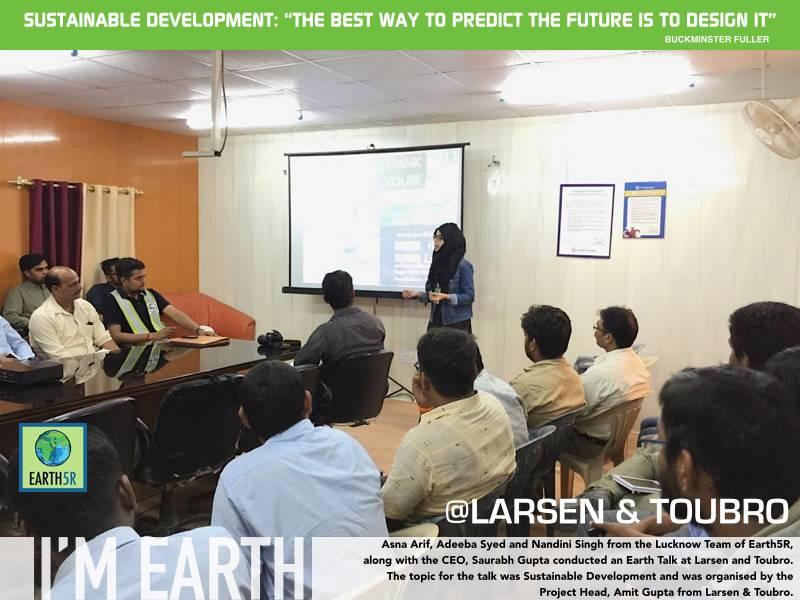 Corporate Social Responsibility Larsen Toubro Mumbai India Environmental NGO Earth5R