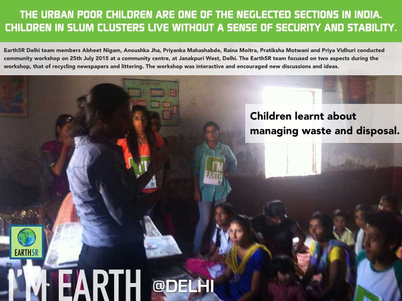 Delhi Community Workshop Recycling Awareness Mumbai India Environmental NGO Earth5R
