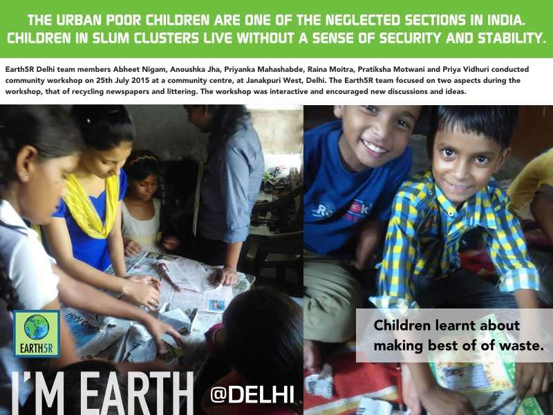 Delhi Community Workshop Recycling Children Mumbai India Environmental NGO Earth5R