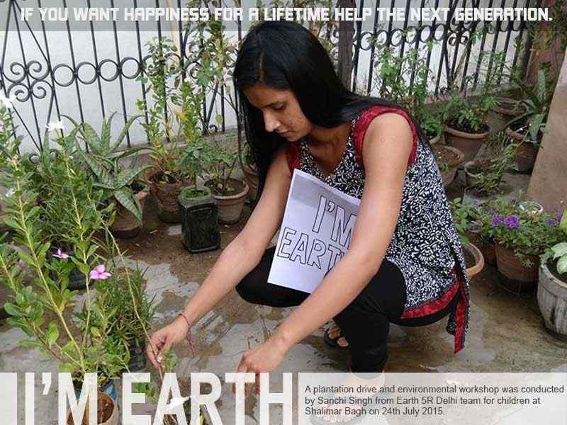 Delhi Plantation Drive Volunteer Mumbai India Environmental NGO Earth5R