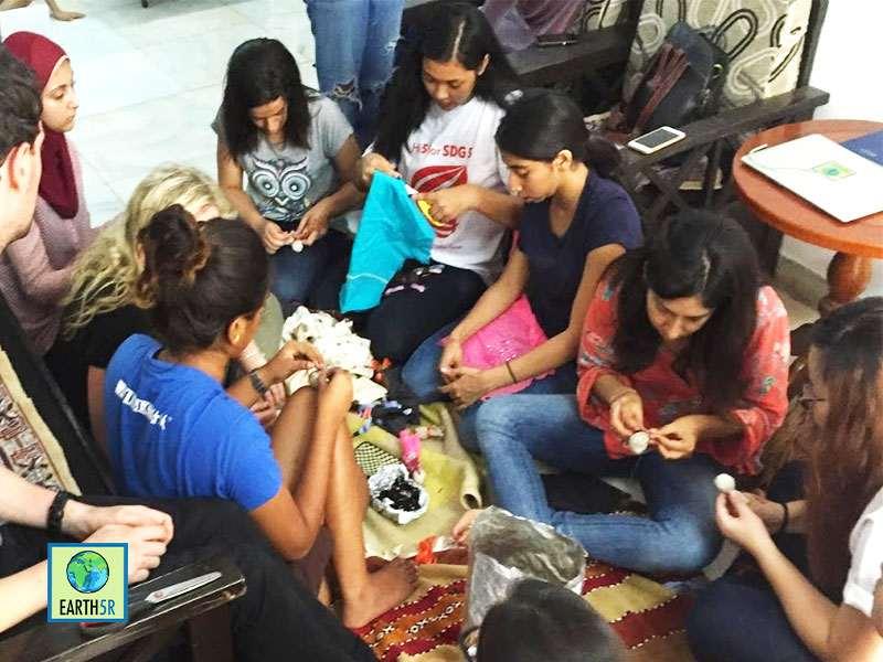 Doll Making Sustainability Workshop Earth5R Mumbai India Environmental NGO
