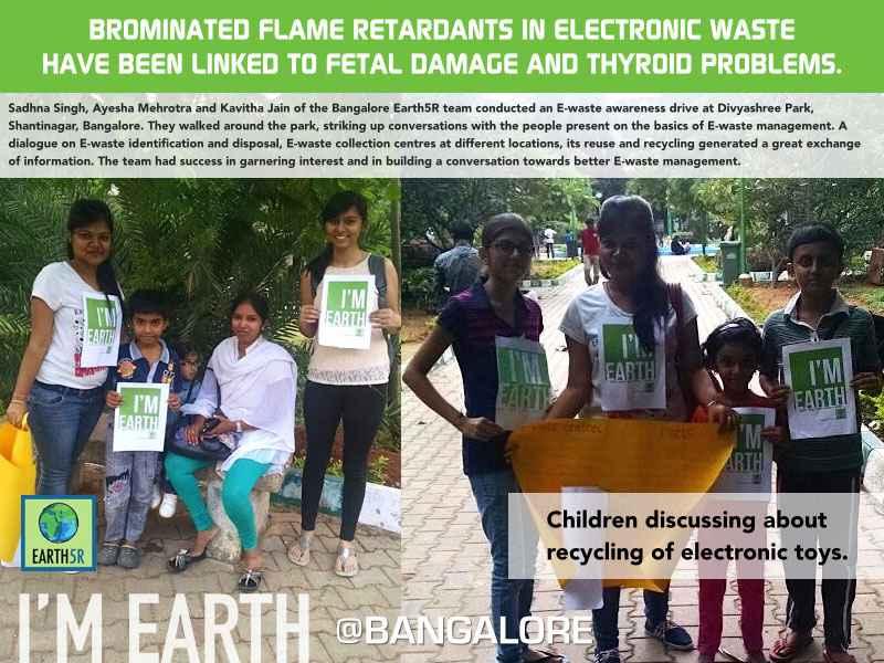 E-Waste Awareness Drive Bangalore Earth5R Mumbai India Environmental NGO