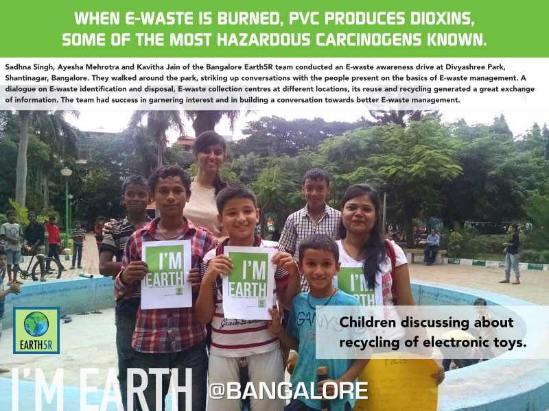E-Waste Awareness Drive Bangalore Volunteer Earth5R Mumbai India Environmental NGO